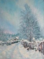 Таниана Кудрикова. «Зимнее». Холст, масло, 40х6\30 см.