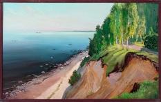Серегин С.И. «Вид с форта Красная Горка». Холст, масло, 50х80 см.