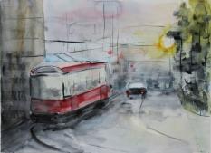 Трамвайчик. Аква. бум.45х55